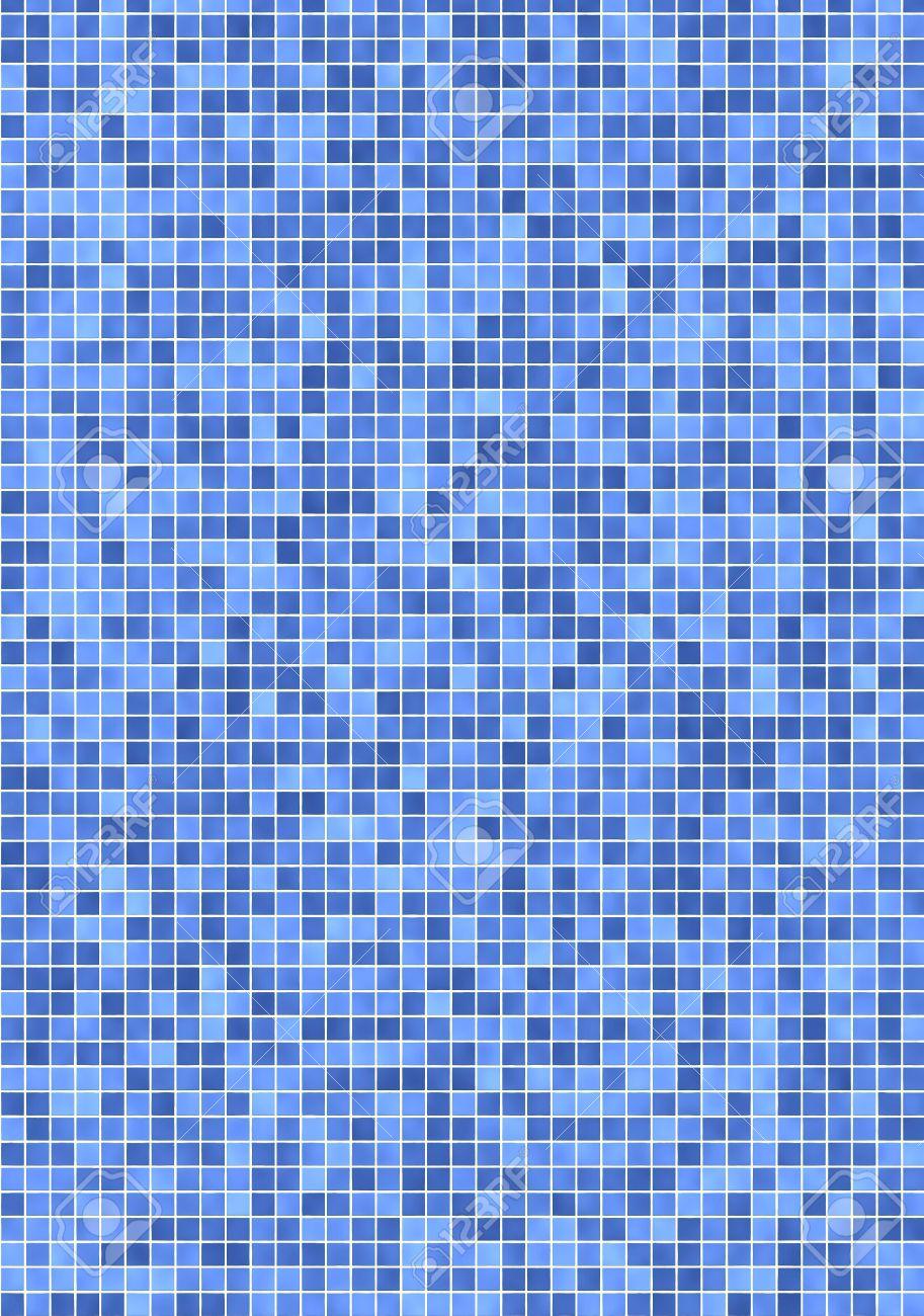 Badezimmer fliesen mosaik blau  Badezimmer Wand Mit Kleinen, Leichten Und Dunkler Blau Mosaik ...