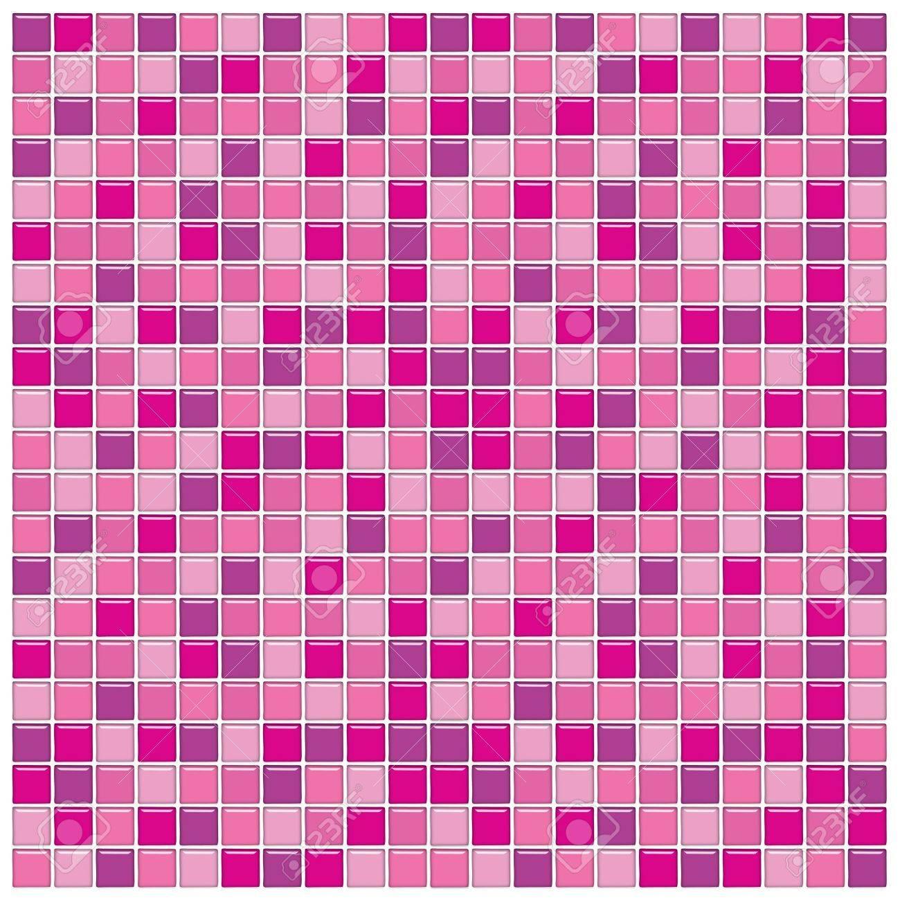 Salle De Bains Avec Mur De Carreaux Violet Et Le Rose En Mosaique De Verre Banque D Images Et Photos Libres De Droits Image 2996812