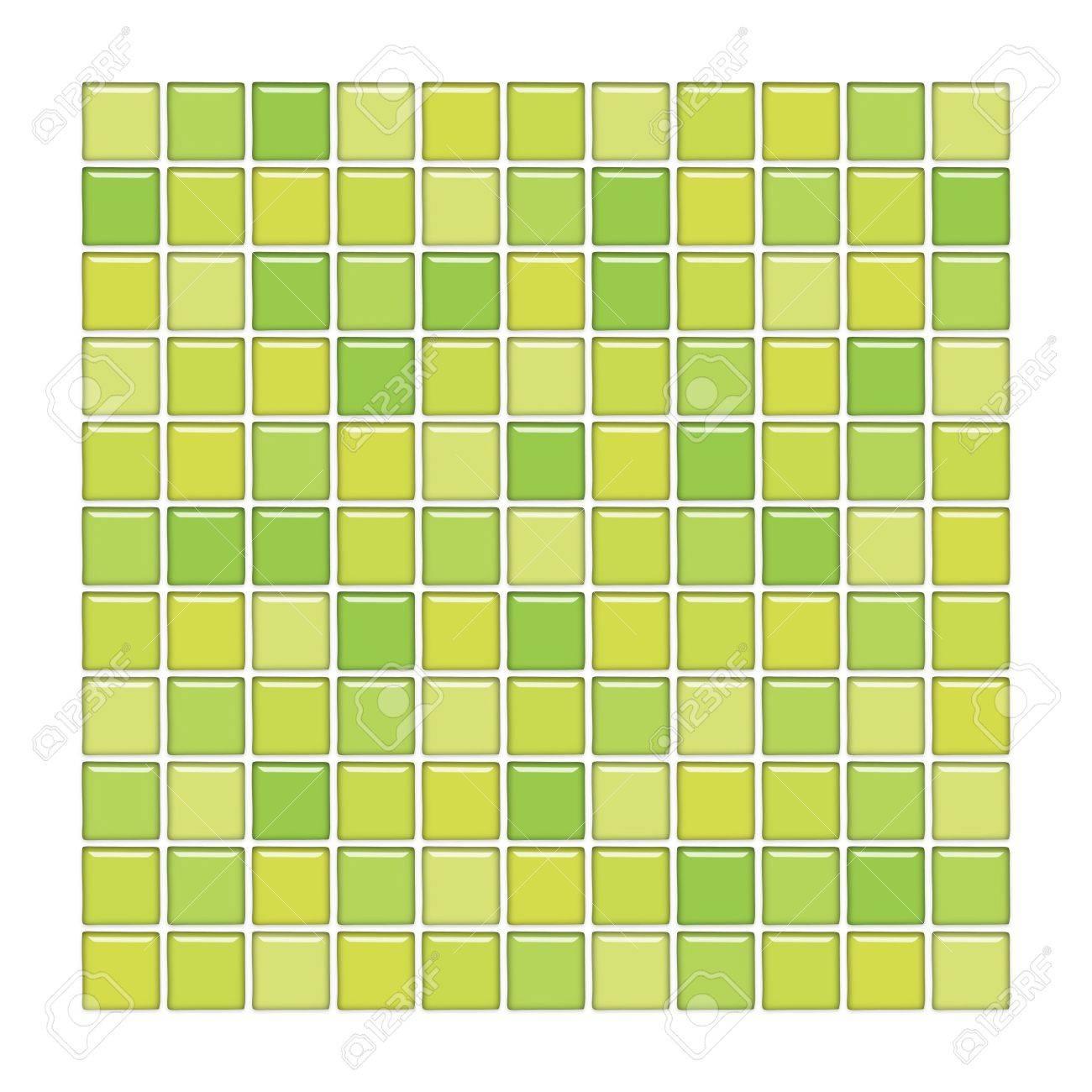 salle de bains avec paroi de verre vert mosaque banque dimages 3003907 - Salle De Bain Mosaique Verte