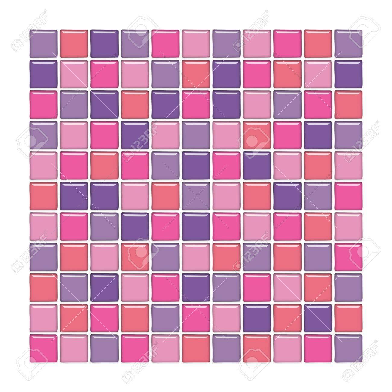 Petite Salle De Bain Style Scandinave ~ salle de bains avec mur rose pourpre et carreaux de mosa que de
