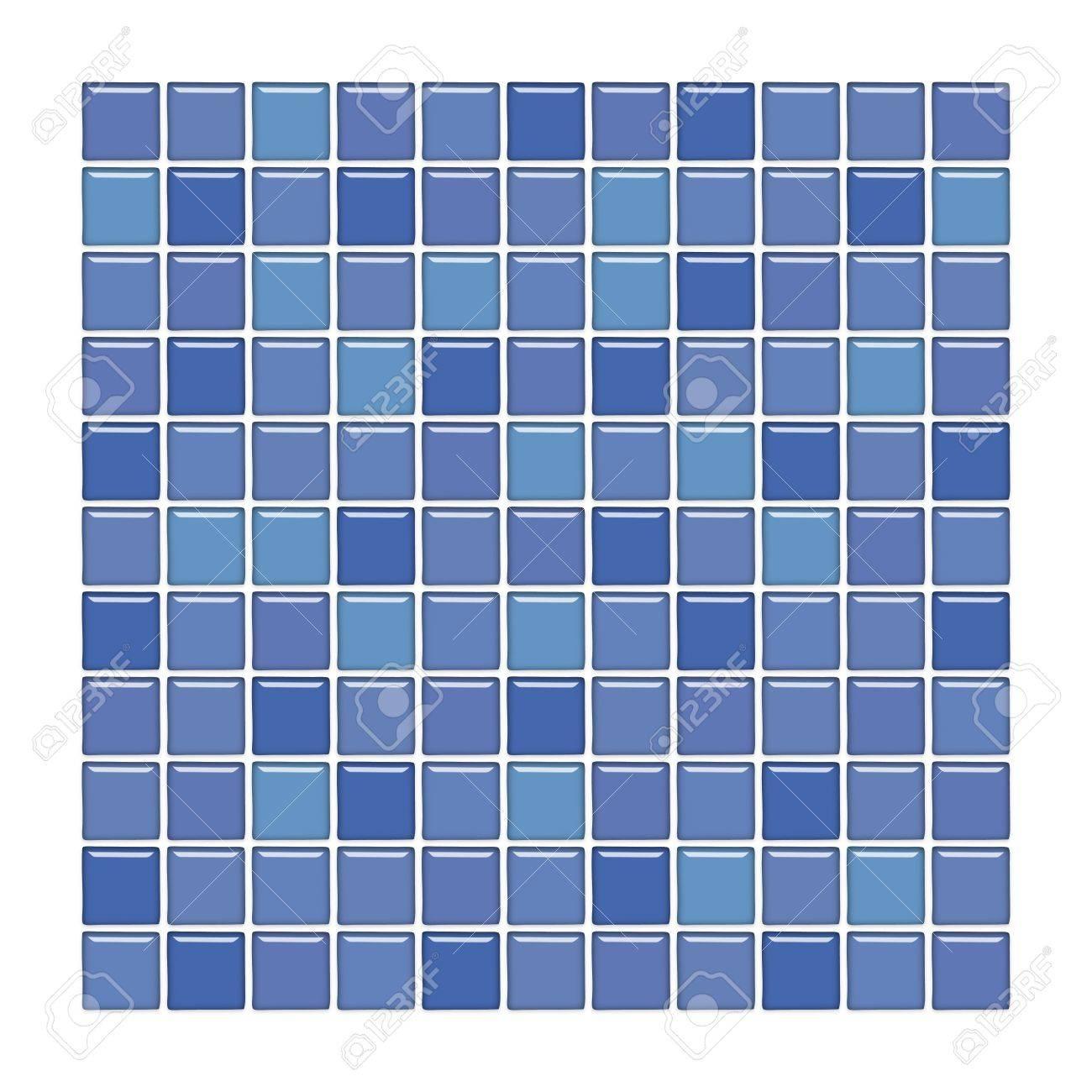 Salle de bains avec mur violet et bleu carreaux de mosaïque de verre