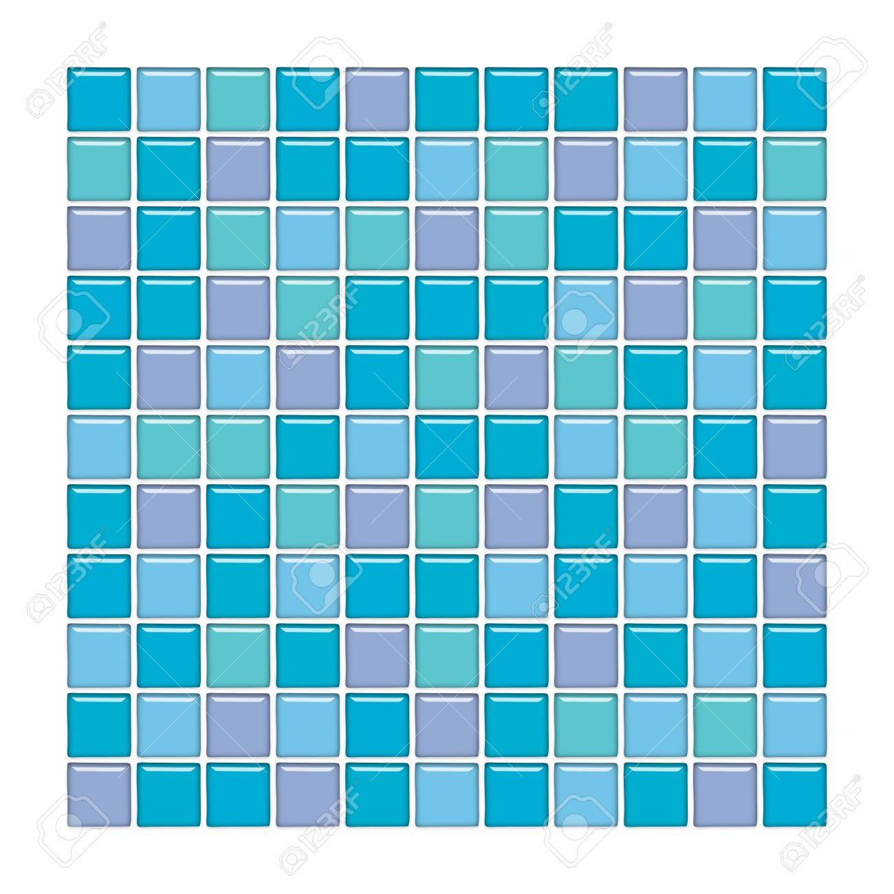 Bathroom Wall With Blue, Green And Purple Glass Mosaic Tiles Stock ...