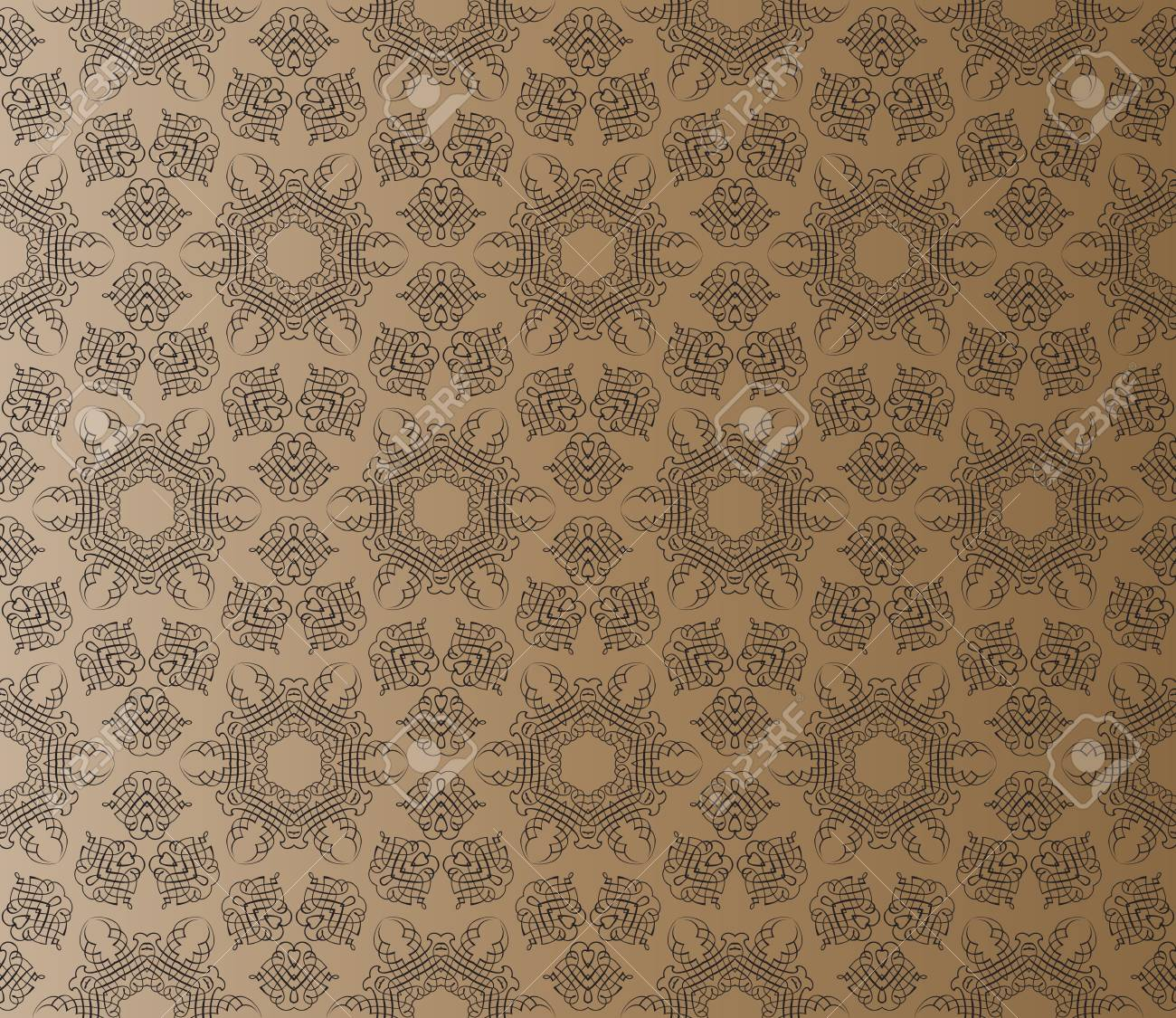 Stylish design with seamless lace on an (editable) brown background Stock Vector - 9735888