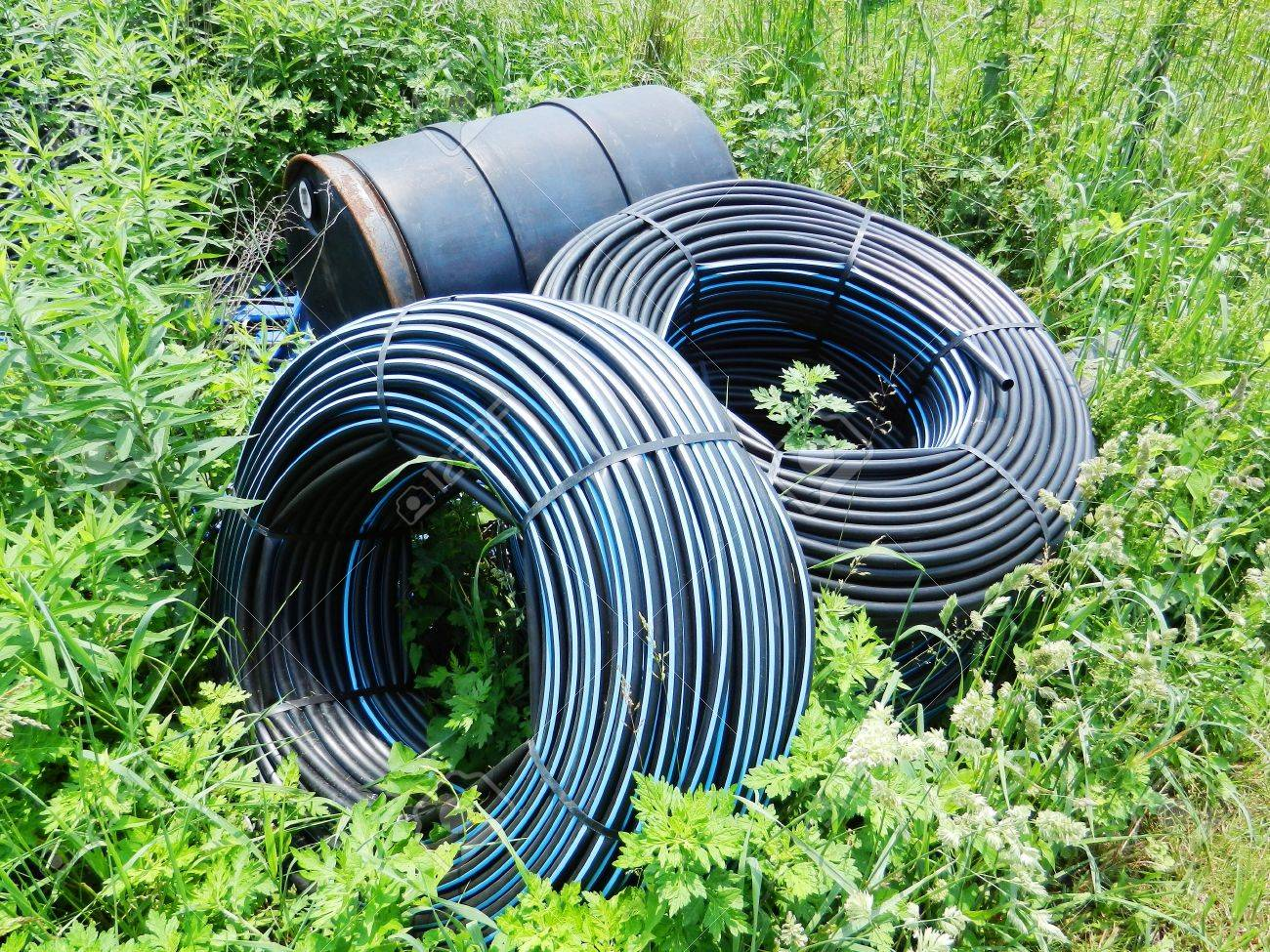 Water Supply Pipe In Farmland Stock Photo, Picture And Royalty ...