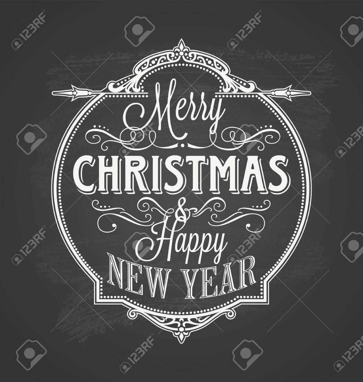Christmas Chalkboard.Merry Christmas Chalkboard