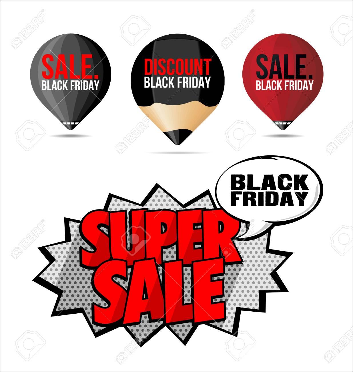 Banque dimages set black friday stickers vente et étiquettes rouges