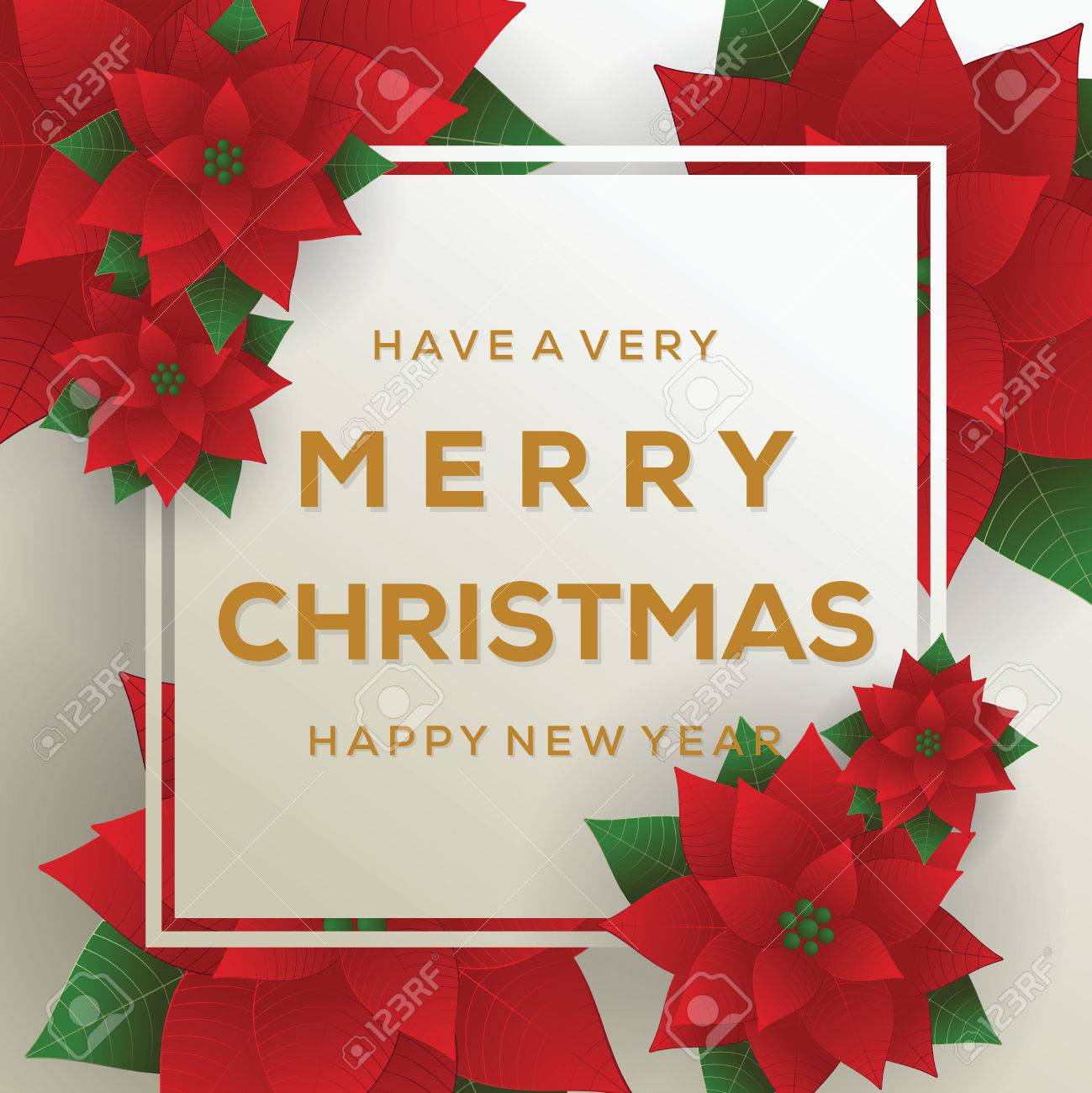 Merry Christmas. Card. Happy New Year. Red Background. Christmas ...