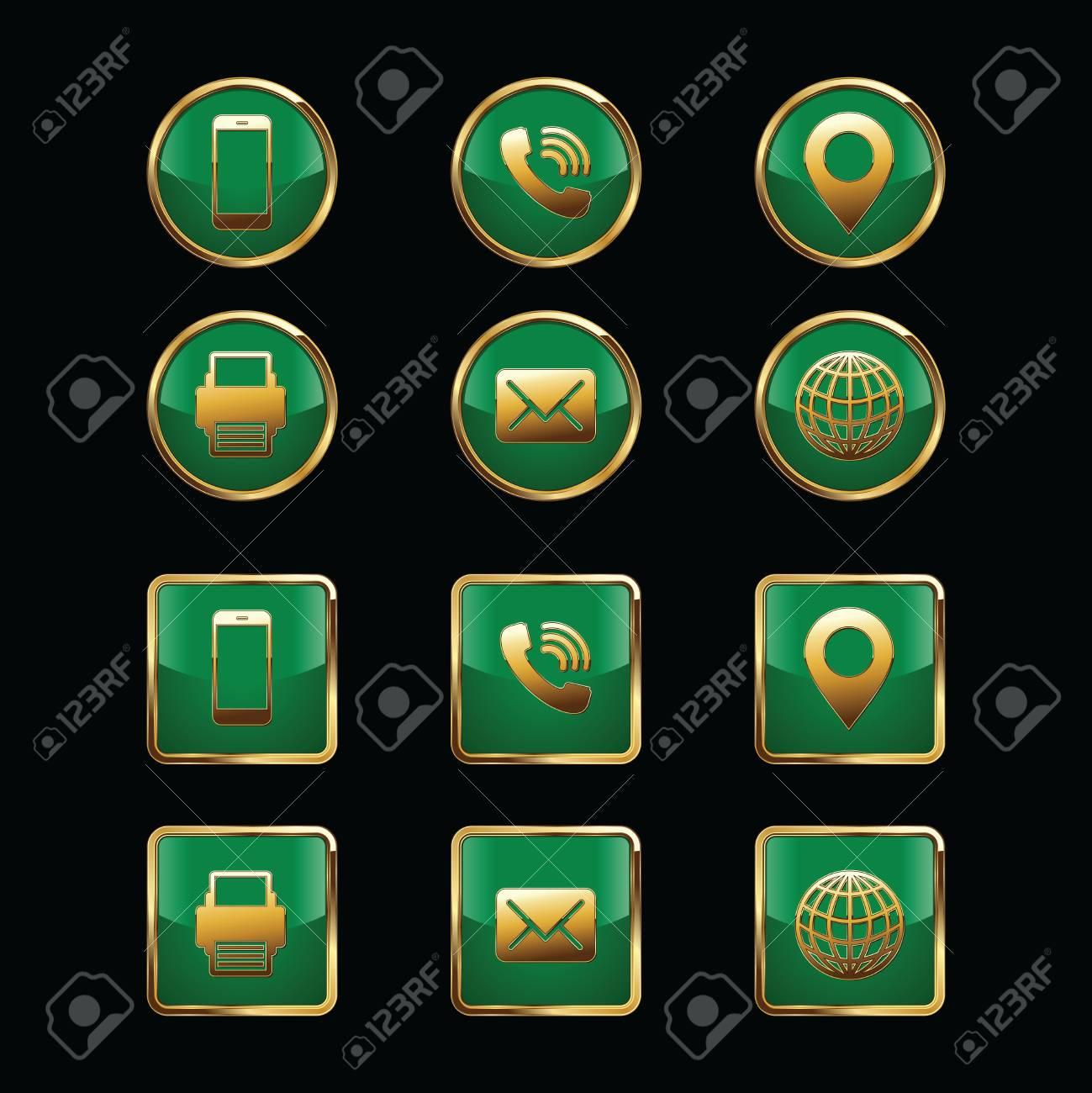 Business Card Icon Set. Web Icons. Luxury Icons. Royalty Free ...