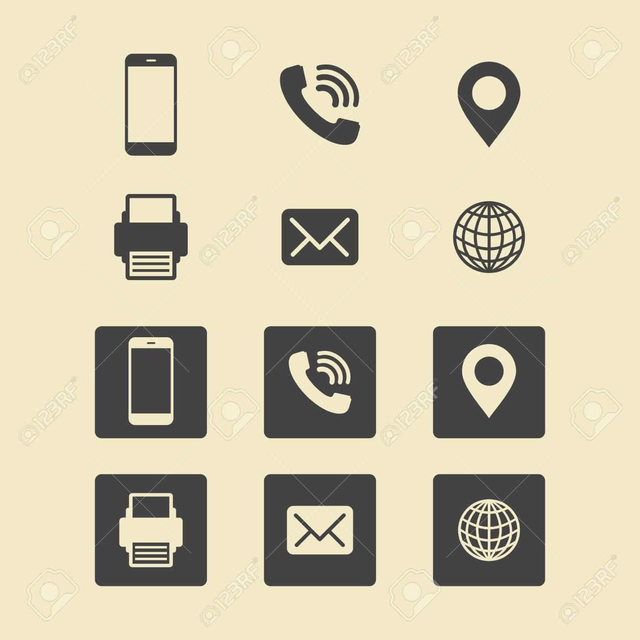 Business card icon set web icons royalty free cliparts vetores e banco de imagens business card icon set web icons reheart Images