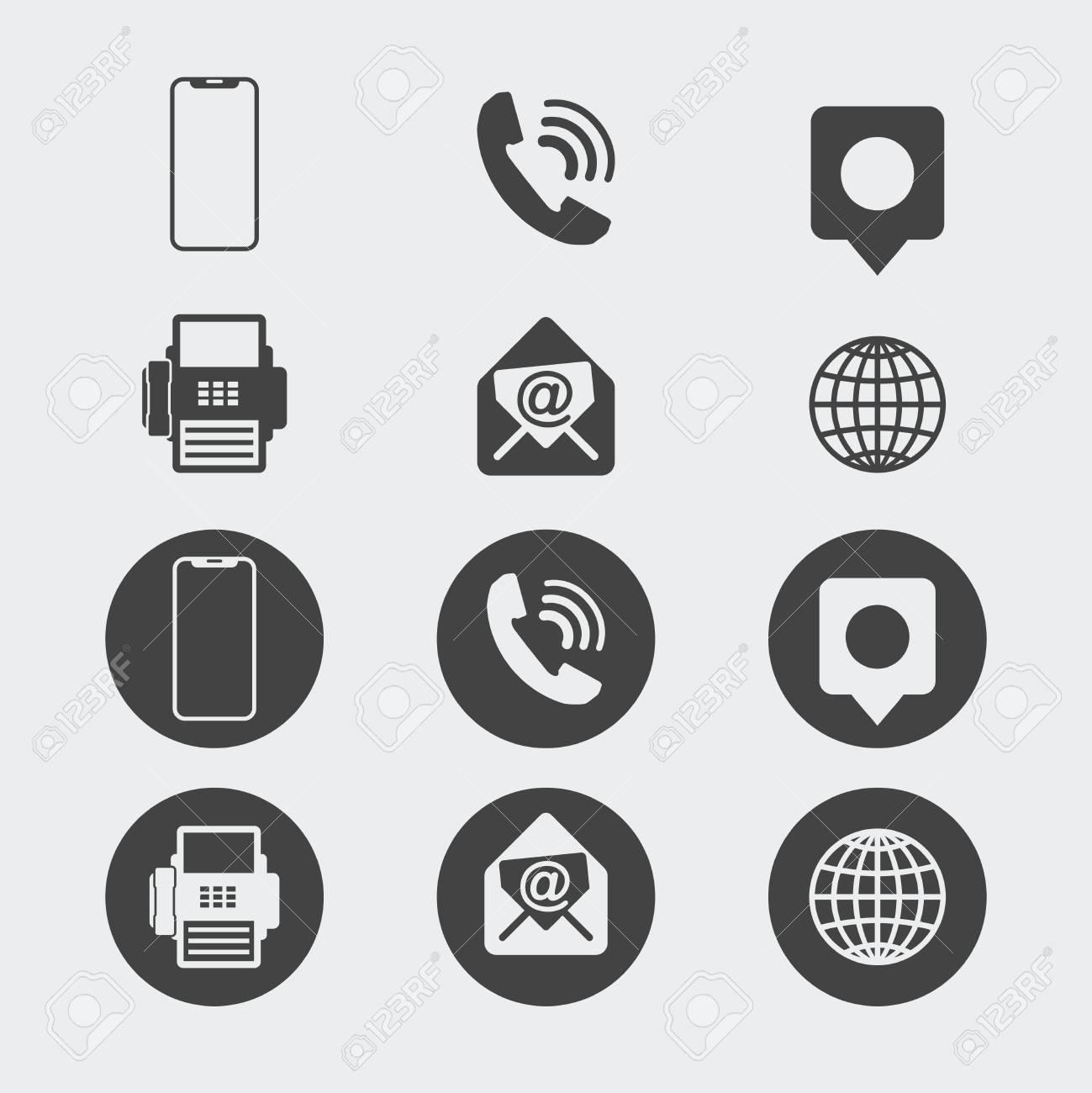 Jeu Dicones De Carte Visite Icones Web Clip Art Libres