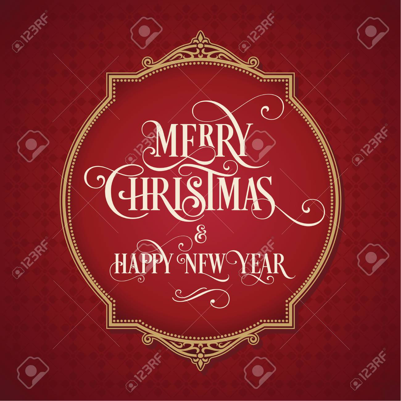 merry christmas and happy new year card background xmas banner stock vector