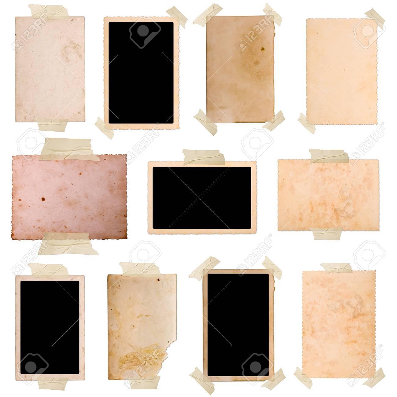 Vintage photo frames set 9, big collection Stock Photo - 7478253
