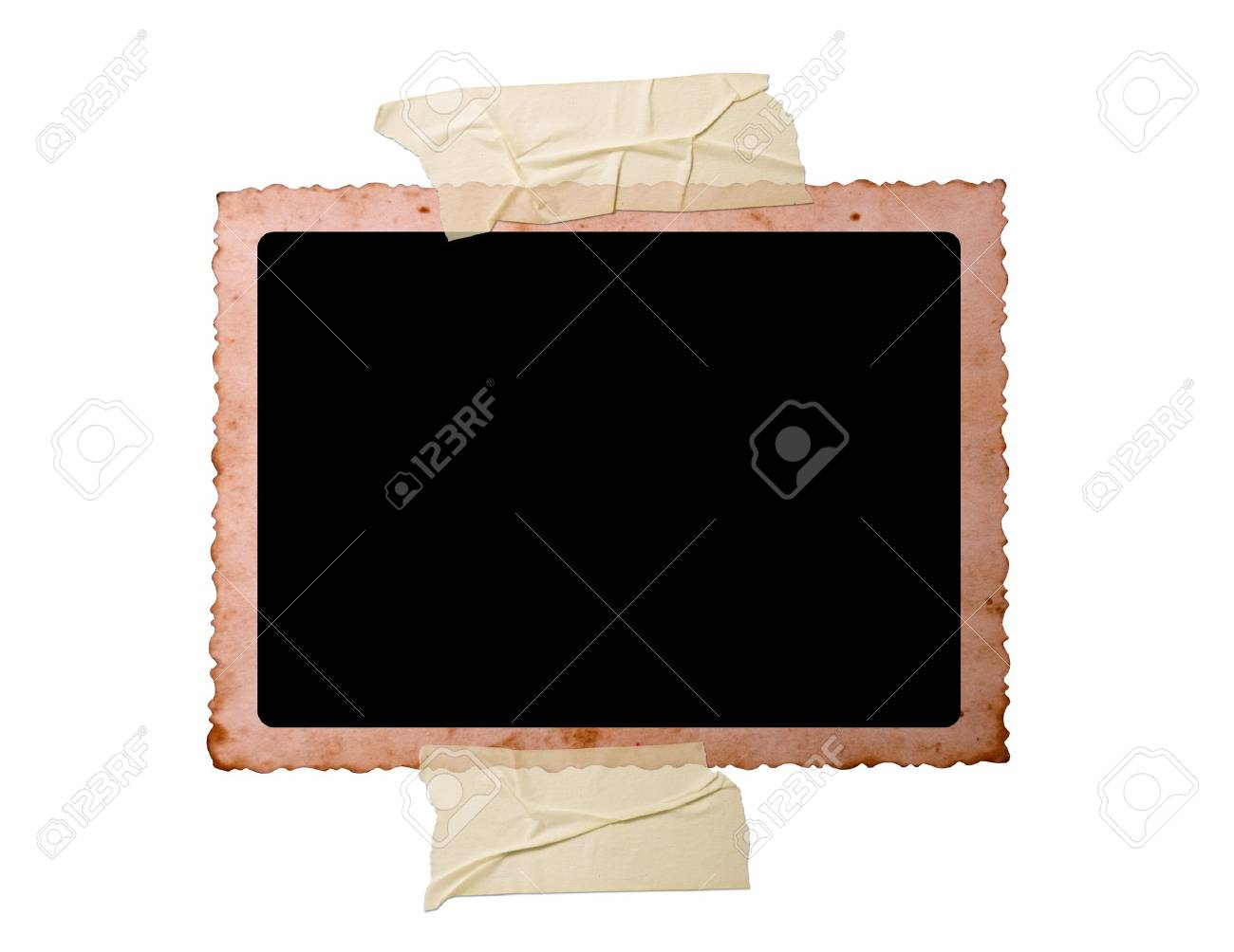 Vintage photo isolated on white background Stock Photo - 7605589