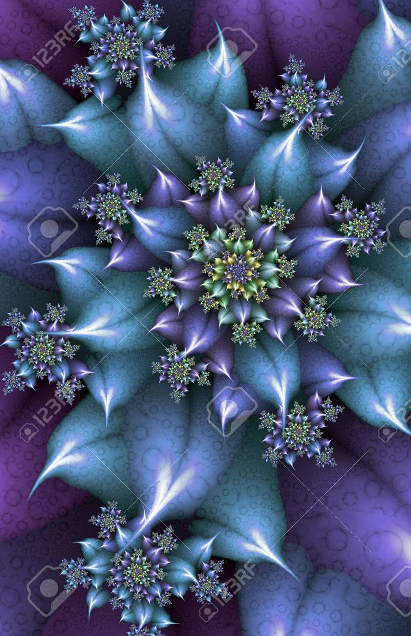 Blue and purple spiky flower fractal stock photo picture and blue and purple spiky flower fractal stock photo 71519386 izmirmasajfo