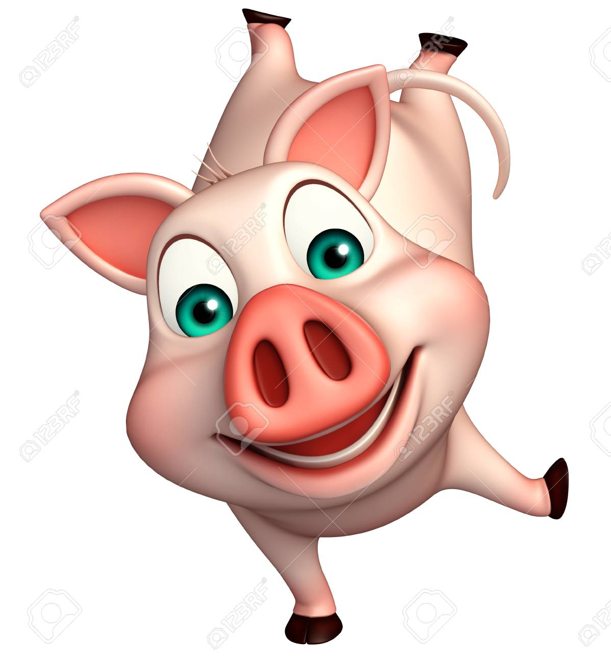 3d Rendered Illustration Of Funny Pig Cartoon Character Stock Photo Picture And Royalty Free Image Image 53247298