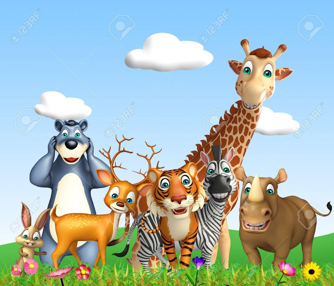3d rendered illustration of wild animal - 53362917