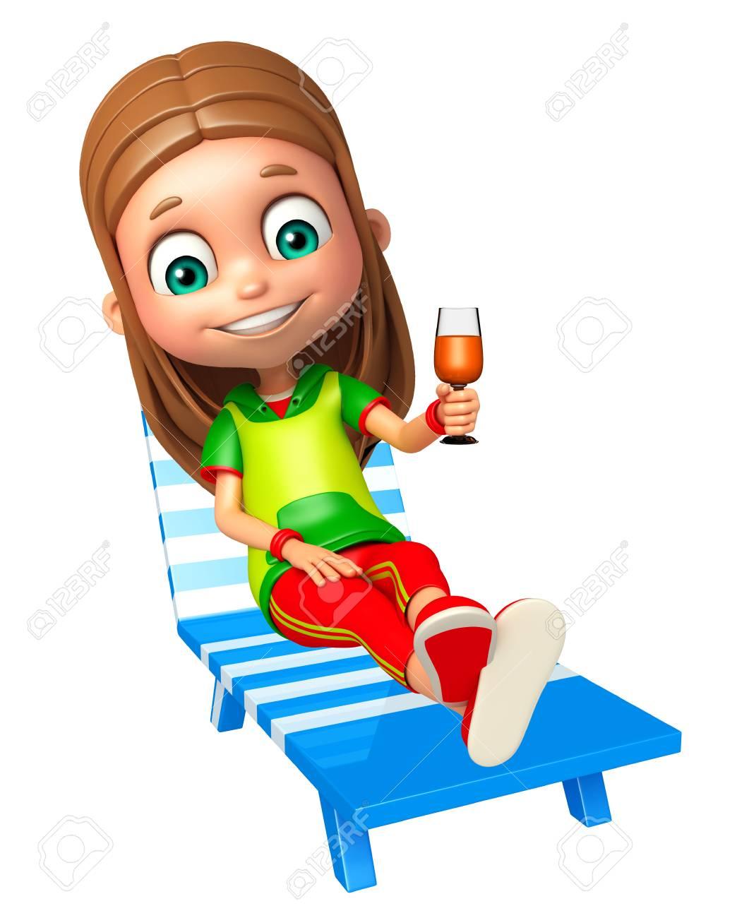 Strandkorb clipart  Kind Mädchen Mit Strandkorb Und Saft Aus Glas Lizenzfreie Fotos ...