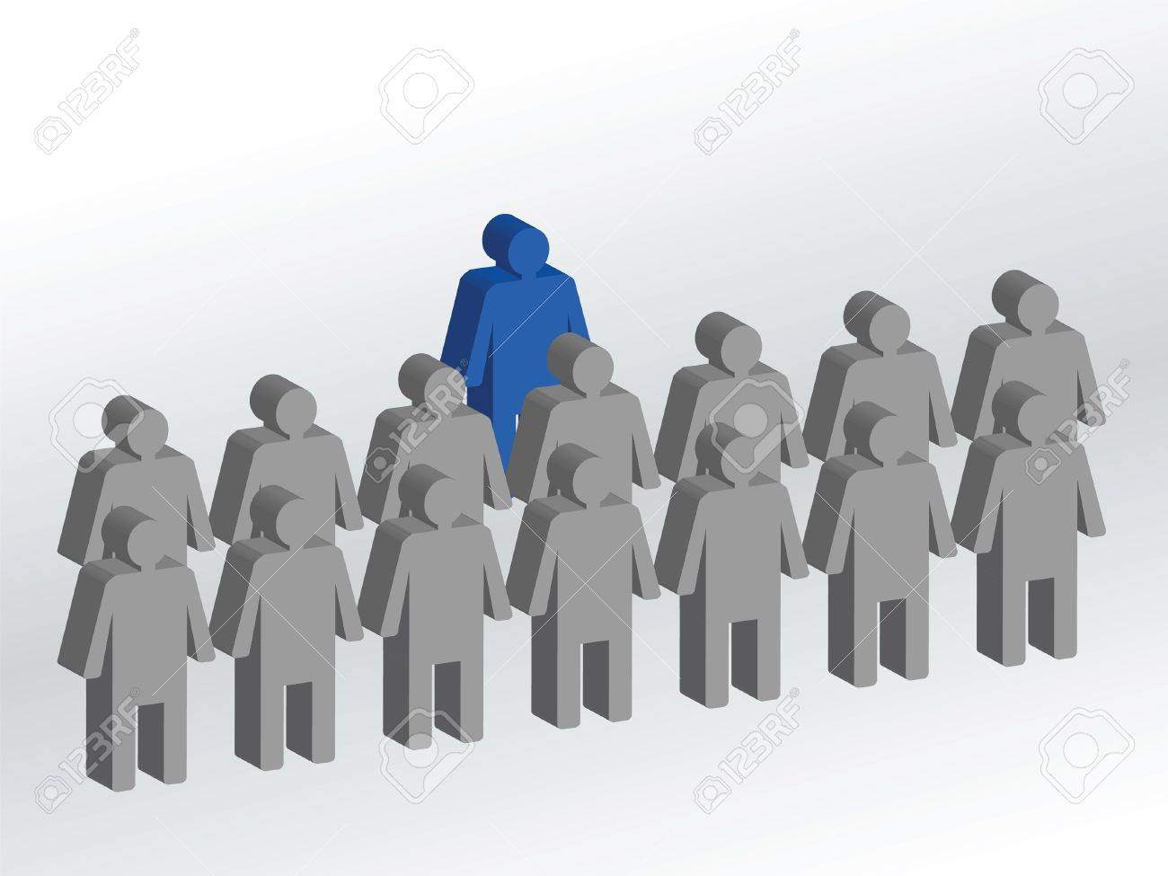 Leader in front of his coworkers Stock Vector - 10773325