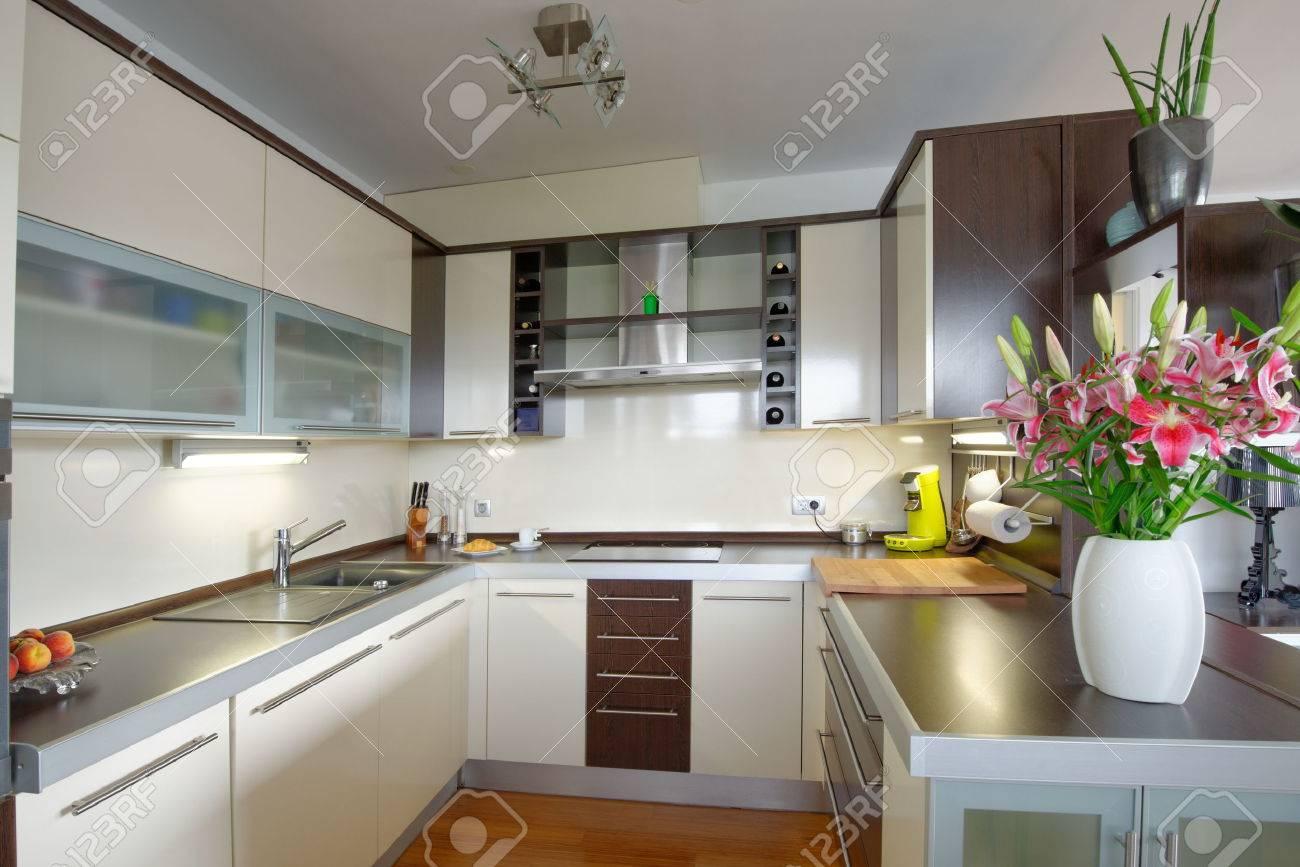 Intérieur De Style Maison Moderne, Cuisine Banque D\'Images Et Photos ...