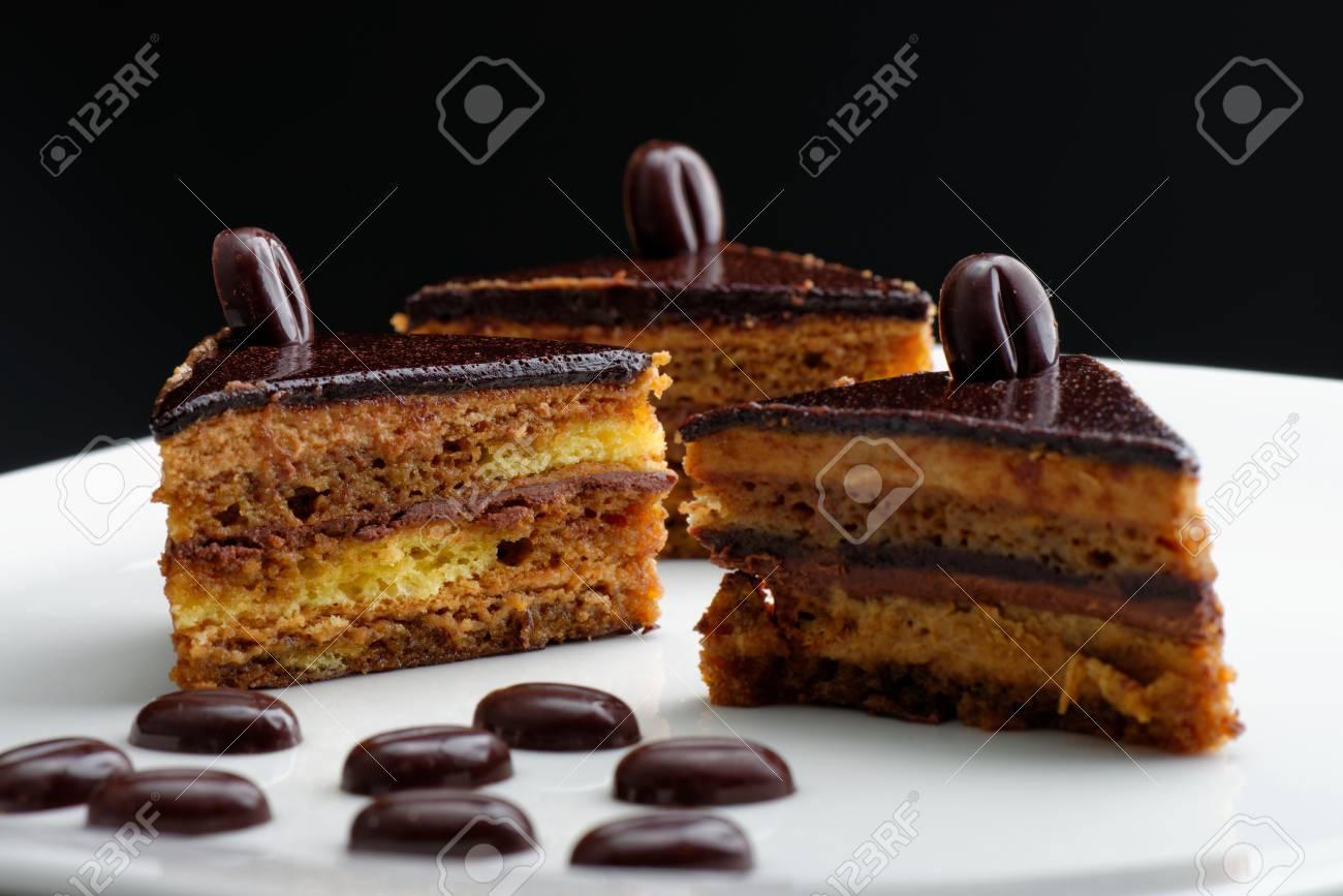 Franzosisch Gourmet Kaffee Kuchen Lizenzfreie Fotos Bilder Und
