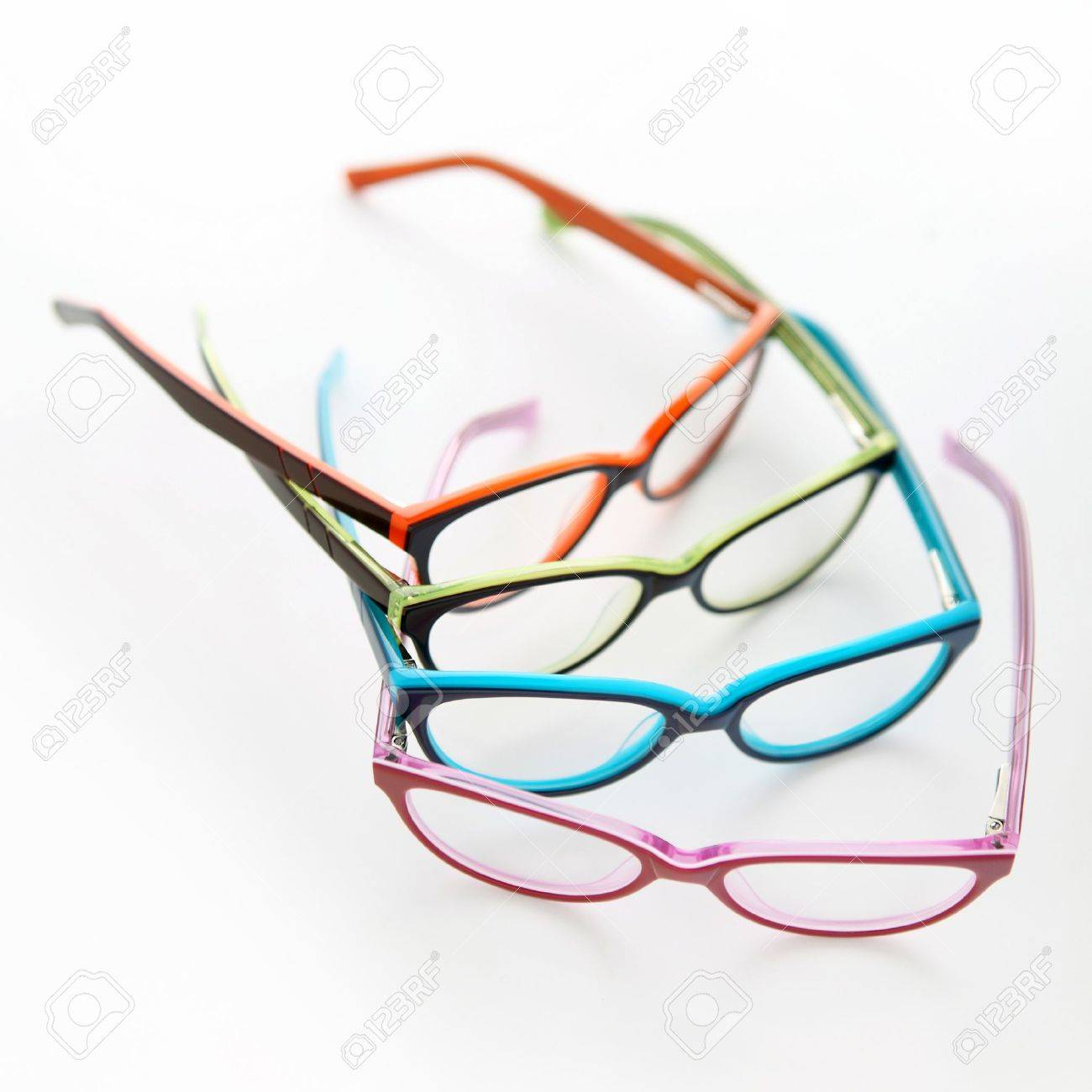439cff6a4c6 composition of colored glasses Stock Photo - 19316311