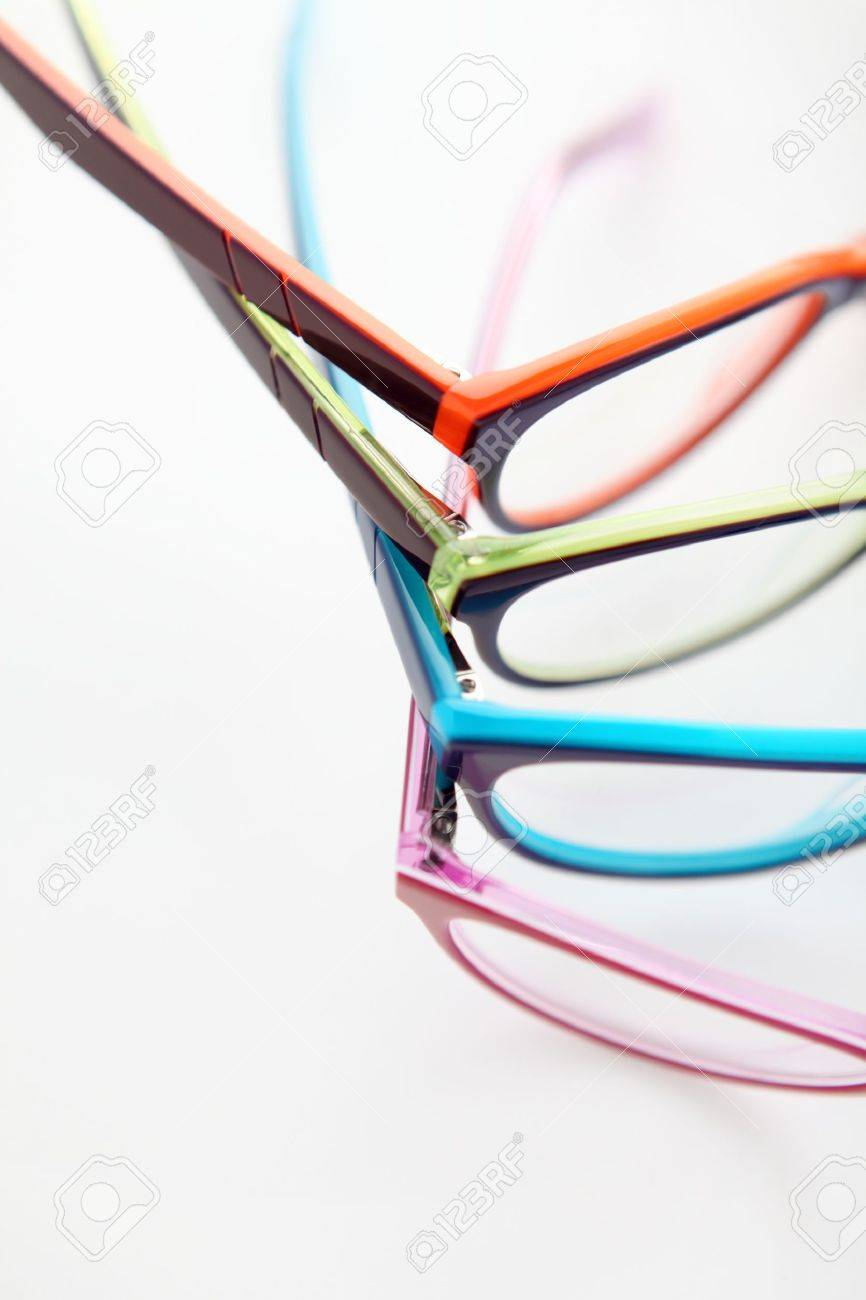 c02f8198cff composition of colored glasses Stock Photo - 19316312