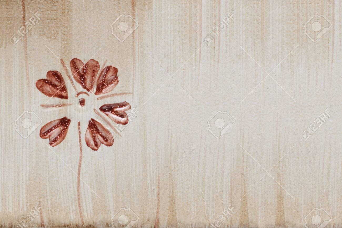 Mattonelle di marmo con motivi floreali foto royalty free
