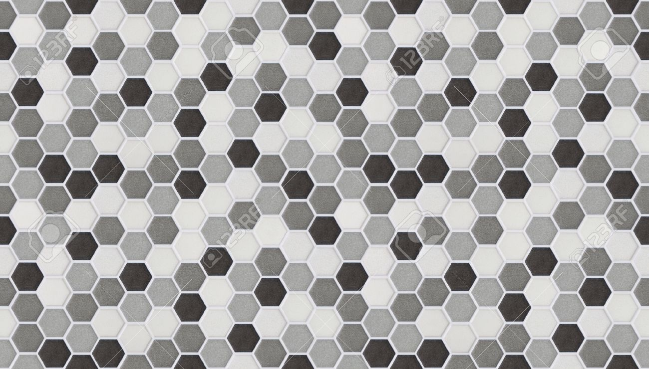 Small Hexagonal Tiles Seamless Of Marble Stock Photo, Picture And ...