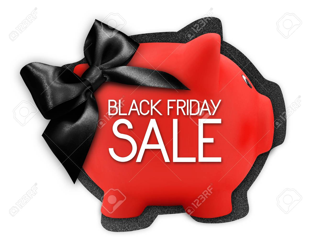Black Friday Sale Text Write On Gift Card Label In The Shape Stock