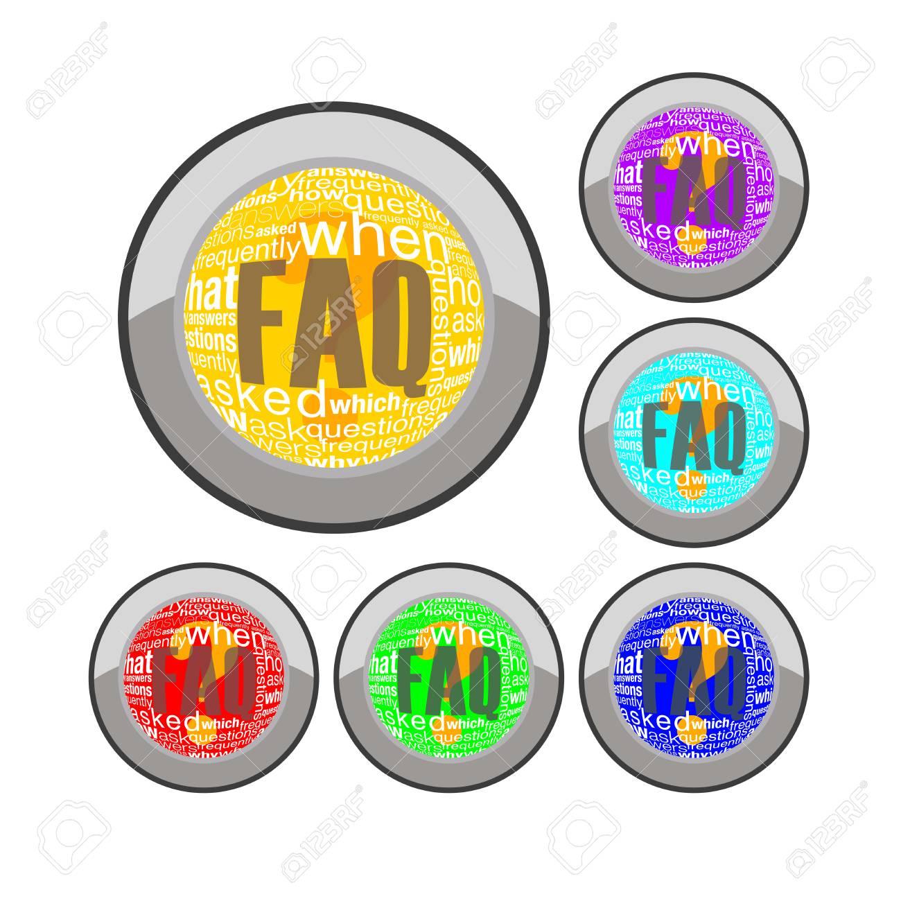 faq button Stock Vector - 8138937