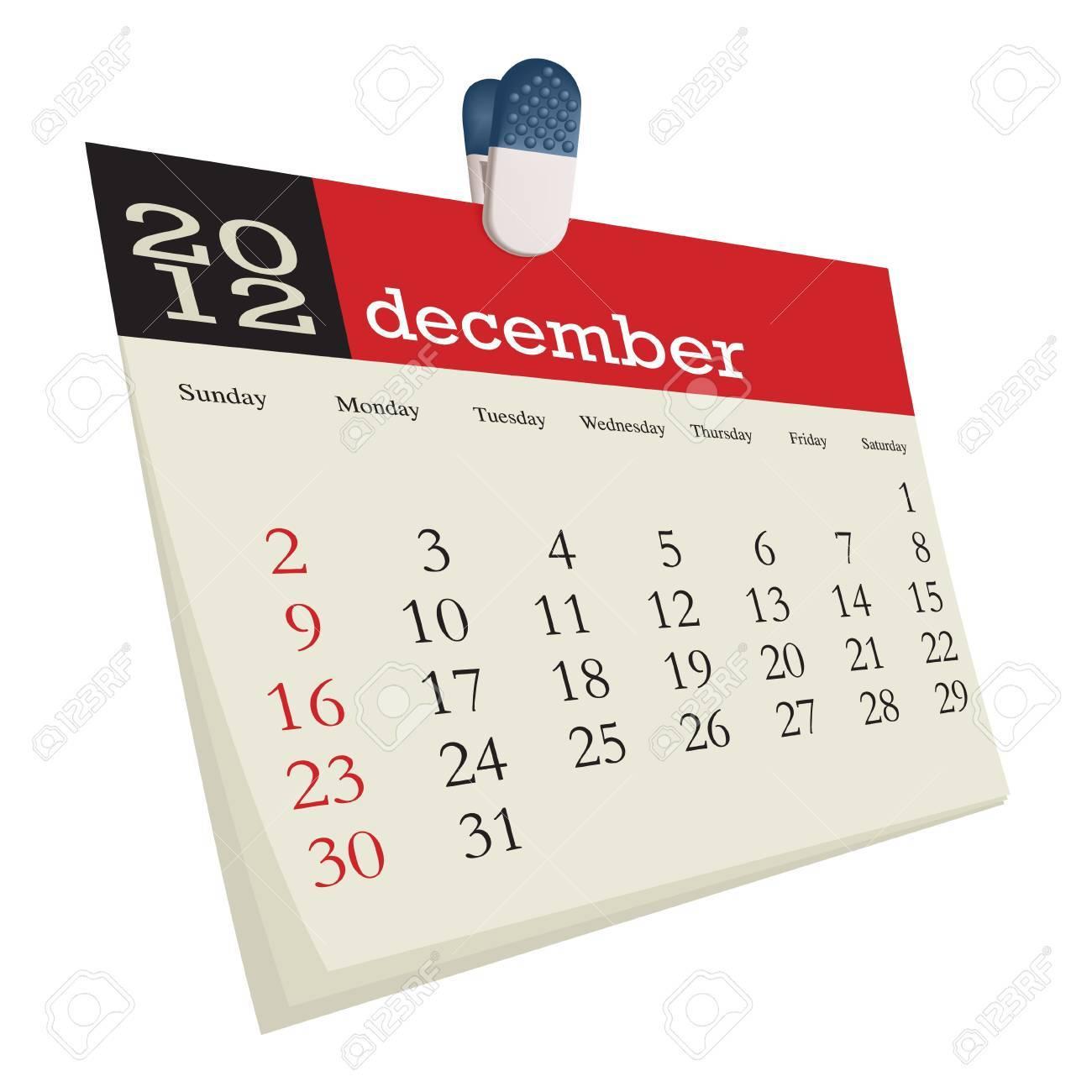 december 2012 Stock Vector - 10618988