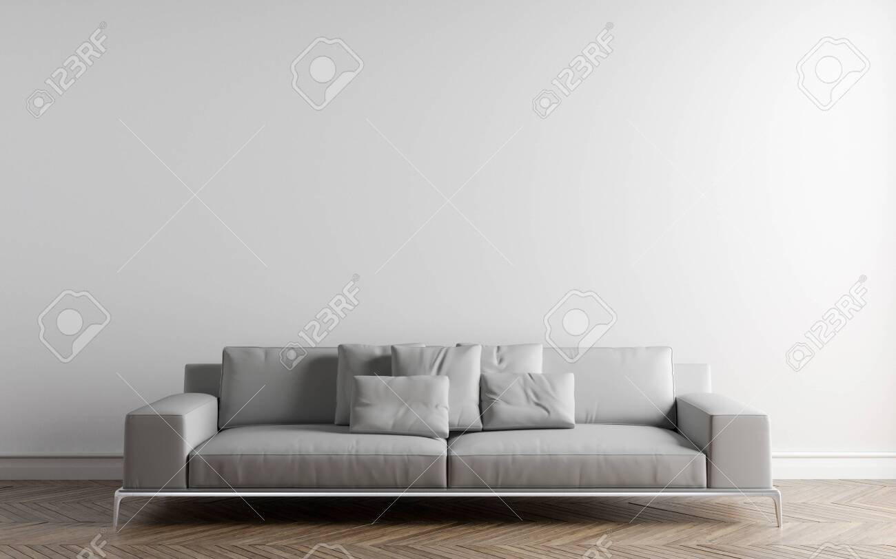 Picture of: Wall Bed And Chair Modern Mid Century Bedside Table And White Stock Photo Picture And Royalty Free Image Image 142555386