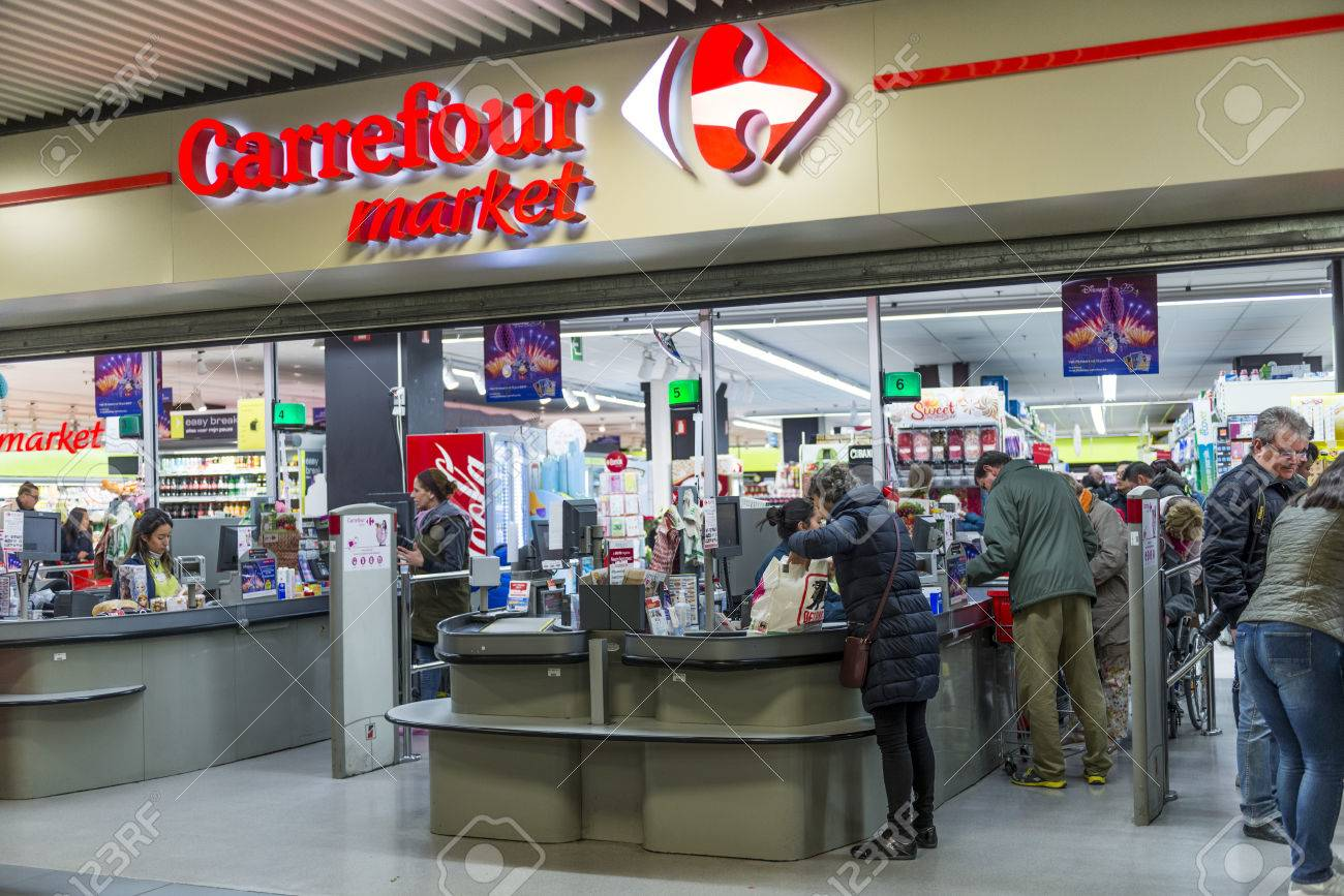 dee3937b7 Carrefour Market Store At Mall Stock Photo, Picture And Royalty Free ...