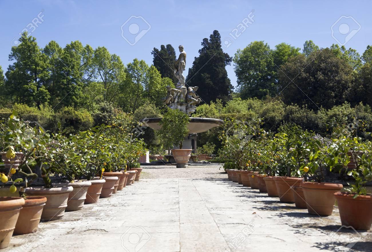 "Fountain ""Ocean"" in Boboli gardens in Florence, Italy - 123021773"