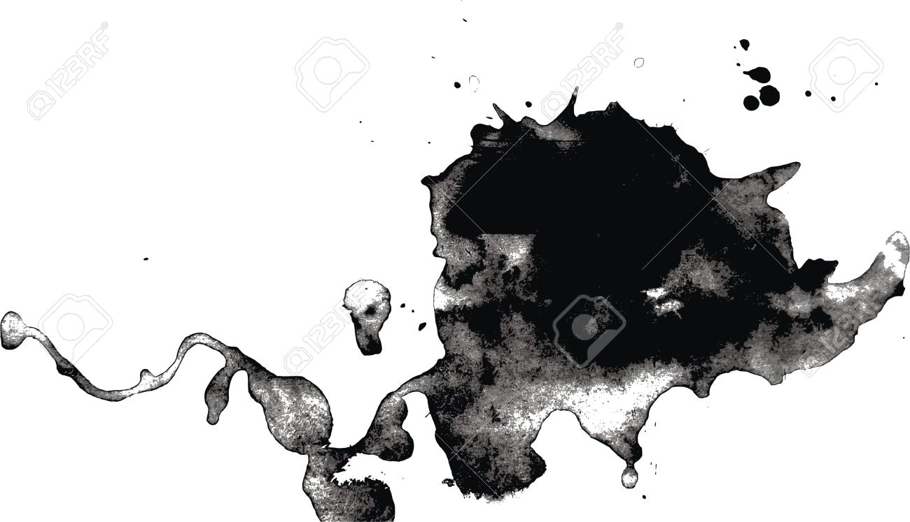 Burr ink drops, black and white pic Stock Vector - 5180795