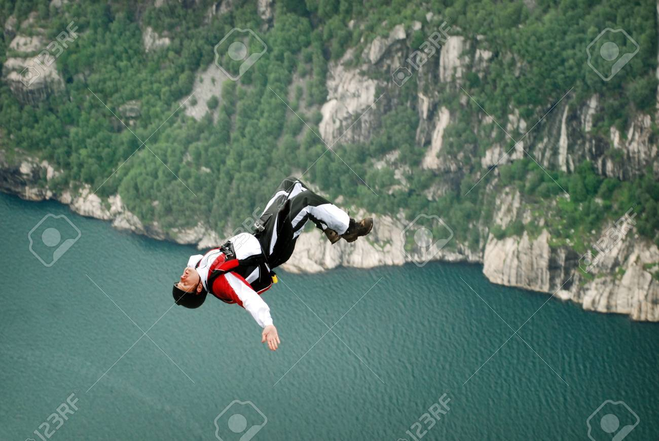 Jump off a cliff with a rope, mountain, sea, nature,