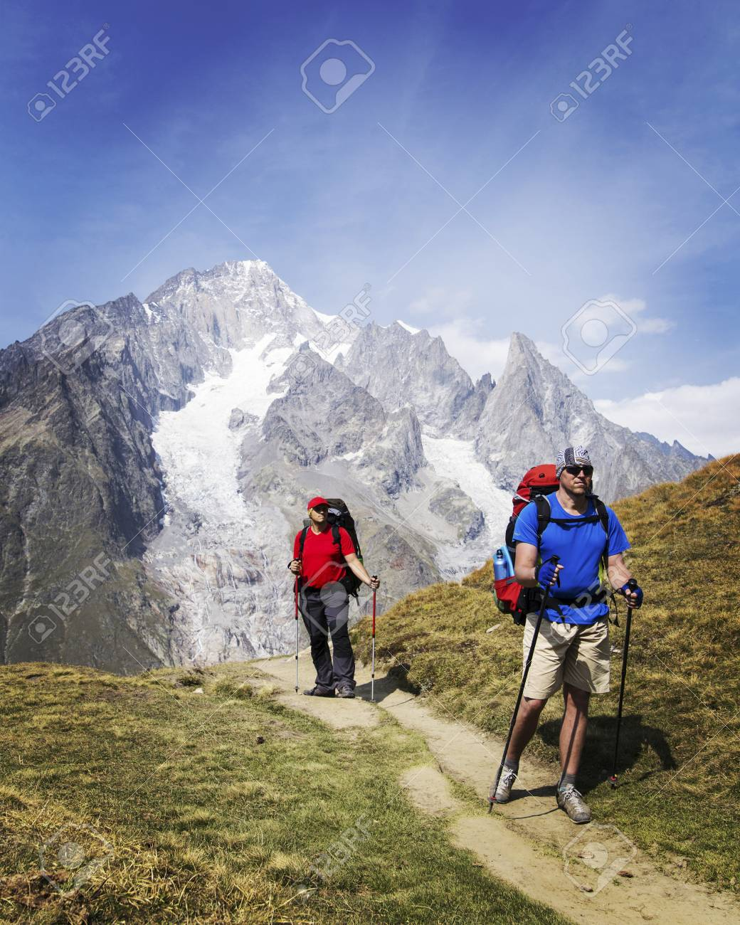 The Tour du Mont Blanc is a unique trek of approximately 200km around Mont Blanc that can be completed in between 7 and 10 days passing through Italy, Switzerland and France. - 102478933