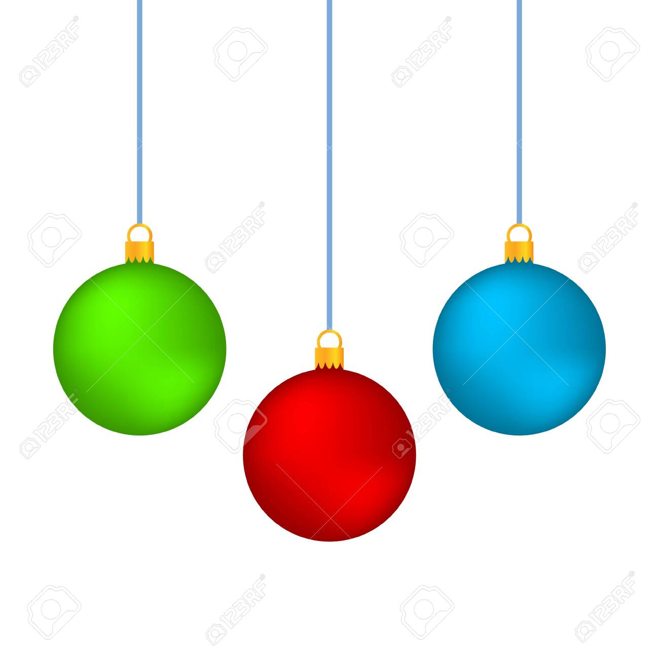 Realistic Christmas set balls vector icons isolated on the white background - 140435802