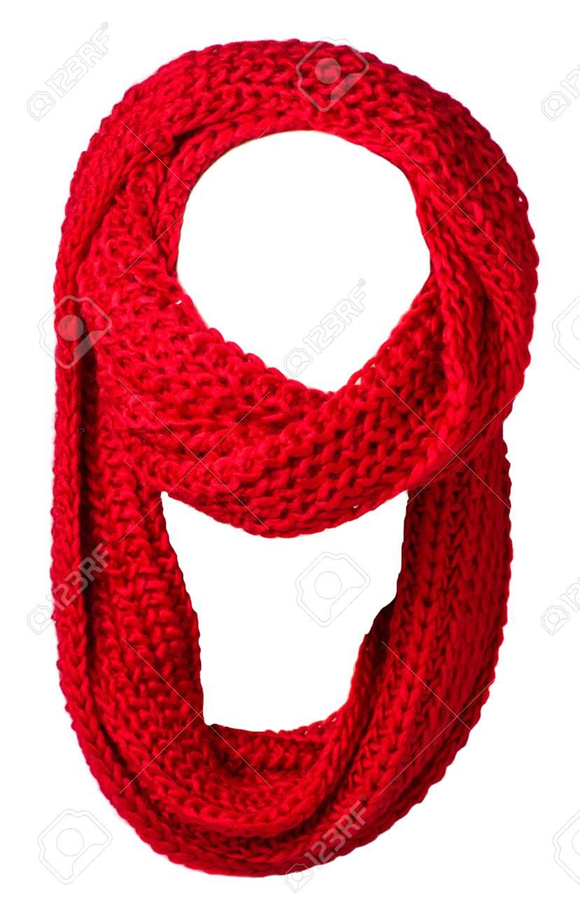 prezzo di fabbrica edaee 4fcff Sciarpa isolata su priorità bassa bianca. Vista superiore della sciarpa  sciarpa rossa