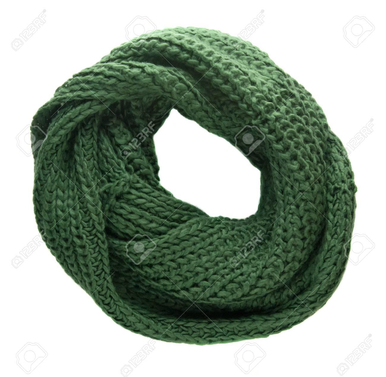 la mejor actitud 31466 4f506 Bufanda aislada en el fondo blanco. Vista superior del pañuelo. Bufanda  verde.