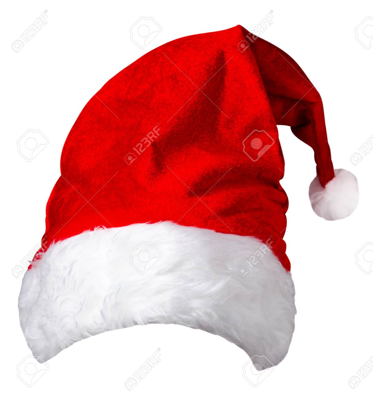 Foto de archivo gorro de santa claus aislado sobre fondo blanco sombrero  rojo de papá noel 2802efb6638