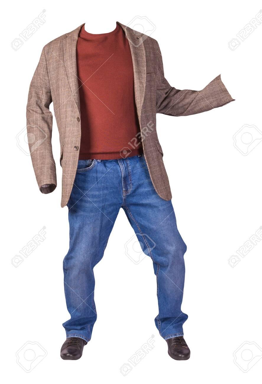 Men's Button Light Brown Jacket, Men's