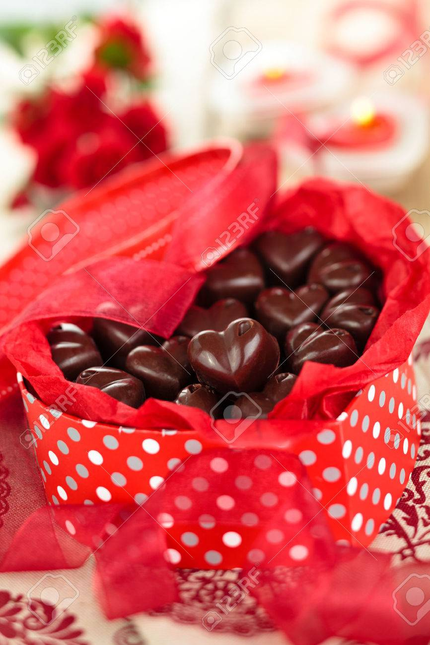 Present For Valentine S Day Homemade Chocolate Candies In Stock