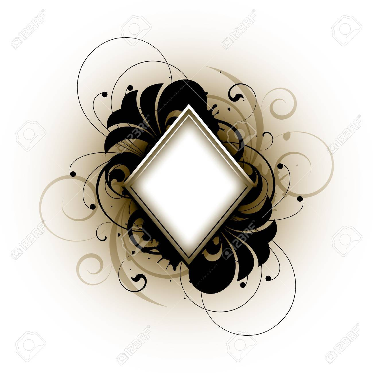 Floral elements on a white background Stock Vector - 14657487