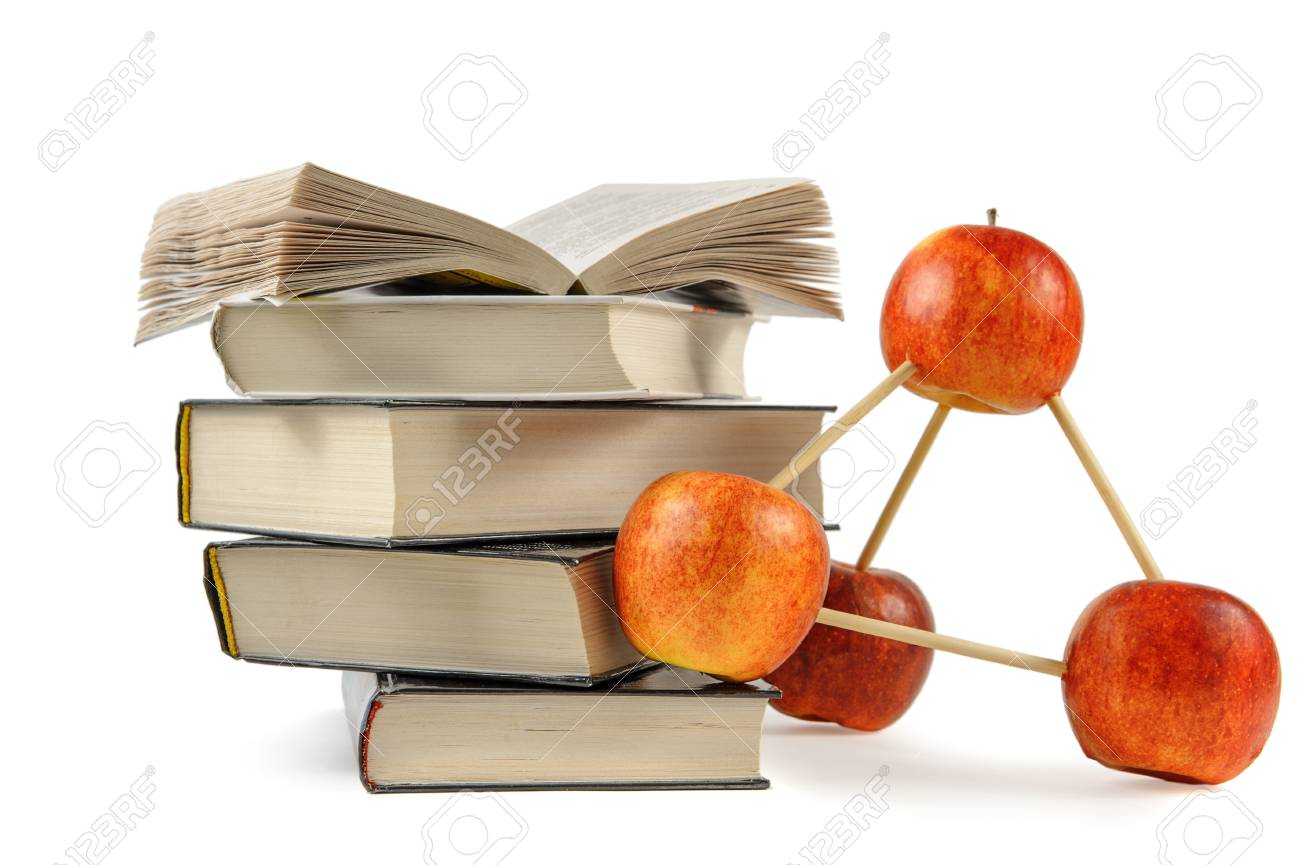 Apple construction and books Stock Photo - 14052706