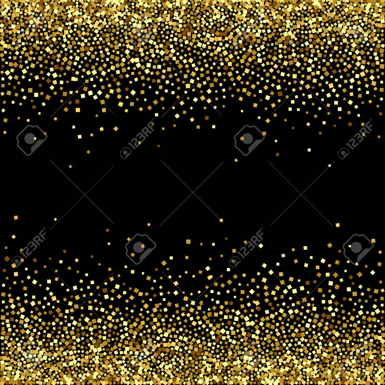 Vector Black Background With Gold Glitter Sparkle Royalty Free Cliparts,  Vectors, And Stock Illustration. Image 75340859.