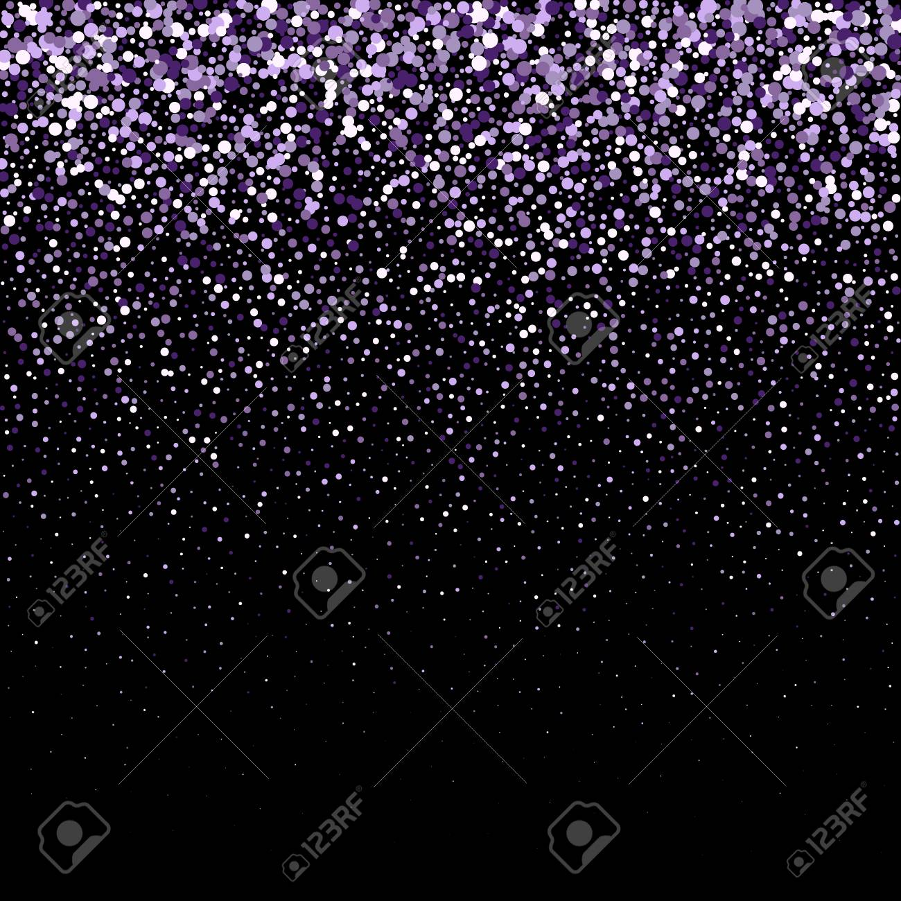 new year and birthday cards festive background with falling glitter confettisparkling glitter border vector frame great for