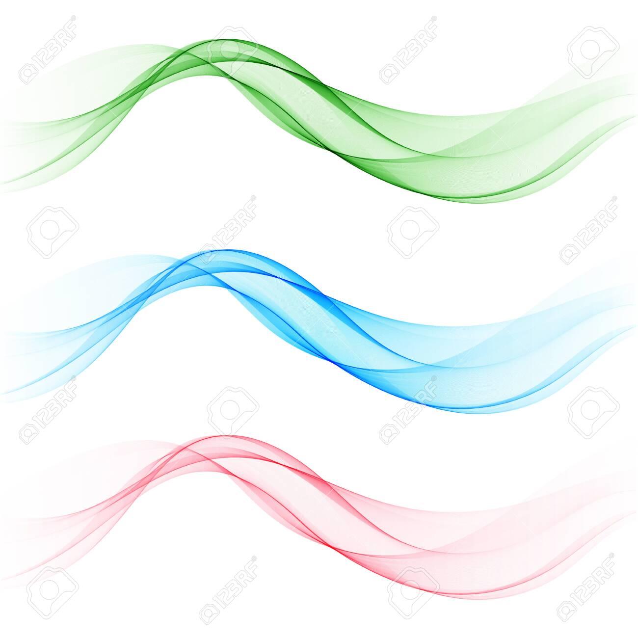 Set colored waves. Brochure template, design element - 123138622