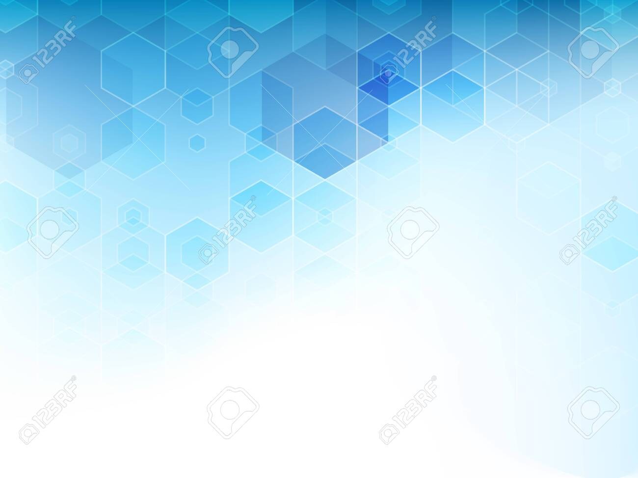 Abstract blue cubes vector background. - 148504288