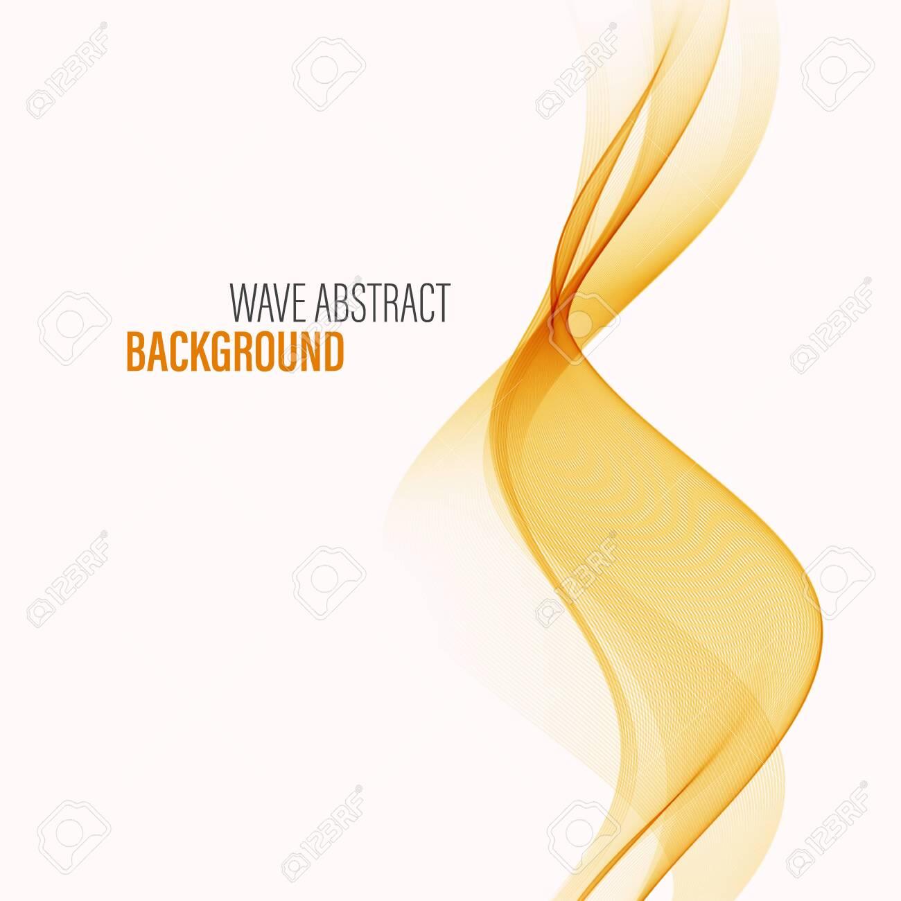 Wavy orange background Wave flow Abstract background - 148183498